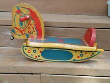 Vintage Toddlers Wooden Rocking Horse