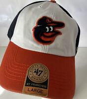 Baltimore Orioles Hat Cap '47 Brand NEW Franchise Fitted Spellot Bird Logo Sz L