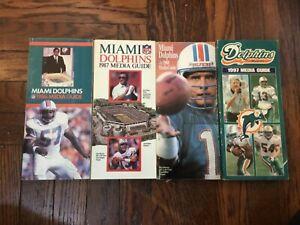 Miami Dolphins NFL Media Guide Lot Dan Marino Football