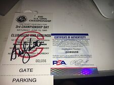 Andy North Winner Signed 1985 US Open  Ticket PSA DNA