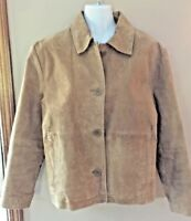 Wilsons Leather Maxima Womens Winter Coat Suede Brown Jacket Size Small