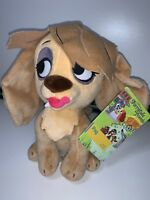 "Disney Store Furrytale Friends PEG Beanie 8"" Plush Toy Lady & The Tramp BNWT"