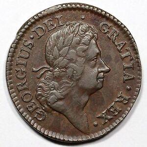 1723 M 4.90-Gd.3 R-5 Wood's Hibernia Half Penny 1/2p