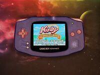 Nintendo Game Boy Advance - Custom- IPSV2 Screen-Transparent blue w/pink buttons