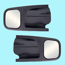 2 CLIP-ON TOWING MIRRORS tow extension extend side rear view hauling extender f2
