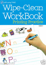 Dalmatian Press PRINTING PRACTICE Write-On Wipe-Clean Homeschool Workbook Gr K-1