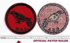 Old BSA FELT Patrol Patch -  Cuckoo - 1940s Era - B & W Threads Back