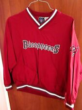 TAMPA BAY BUCCANEERS youth lrg pullover V-neck 1990s embroidery pirate flag logo