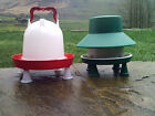 Quality 6kg Feeder and 6 Ltr Poultry Drinker Outdoor or Indoor