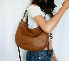 NWT Michael Kors Bedford Medium Convertible Shoulder Pebbled Leather Bag Luggage