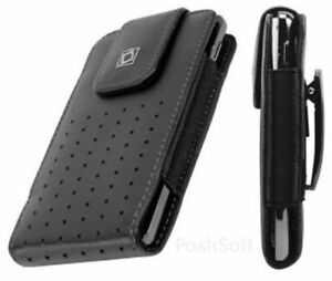 Leather Carry Case for ZTE Axon 7s & Axon M -Cover Pouch+Holster Belt Clip
