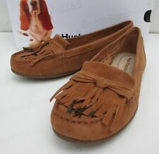 Hush Puppies Naveen Robyn Brown Leather Flat Fringe Tassel Moccasin Loafer Shoe UK 4 EU 37