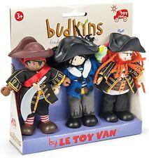 Budkins BK916 Triple set Buccaneers by Le Toy Van Flexible doll - Pirates Range