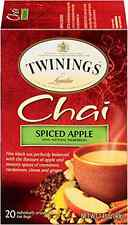 Twinings Chai Tea, Spiced Apple, 20 Count Bagged Tea (6 Pack)