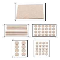 Beige Self Adhesive Felt Furniture Pads Floor Scratch Protection Chair Table Leg