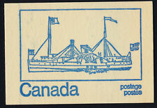 Canada 544c Booklet BK71f Steam Ship MNH Dogs, Parliament Buildings