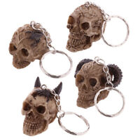 Fantasy Celtic Skull Resin Head Key Chain Keyring Charm Gift