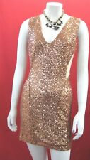 New TFNC London Metallic Mesh insertCut Out Sequin evening Dress size L (14)