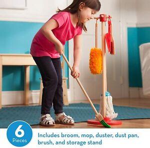 REFURB Melissa Doug Let's Play House Dust! Sweep! Mop 6-Piece Pretend play Set