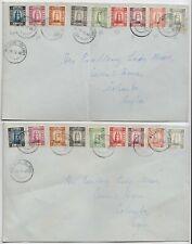 Maldives 1948 2x Covers To Ceylon C490