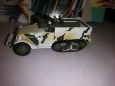 JOHNNY LIGHTNING DIECAST MILITARY army half track tank white camo