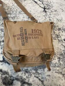 Kakadu Traders Australia Utility Bag Leather/Canvas Brown Double Handles