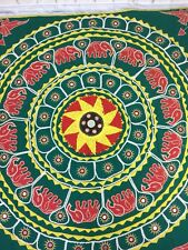 Elephant Mandala Indian Mirrored Large Square Throw  or Wall Hanging