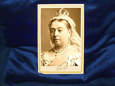 QUEEN VICTORIA Vintage Cabinet Card Photograph CDV Victorian