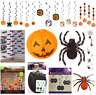 👻HALLOWEEN DECORATIONS Hanging Spider Web Pumpkin Ghost Witch Bat Party Prop👻