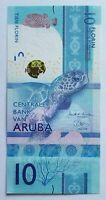 ARUBA NEW 10 FLORIN BANKNOTE 2019 CRISP UNC NO RESERVE