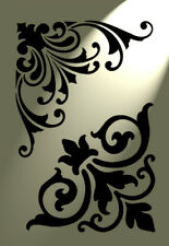 Shabby Chic furniture stencil Damask under detailers A4 297x210mm designs C