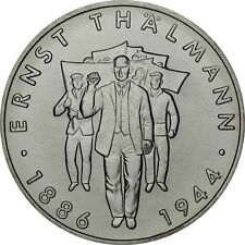 DDR 10 Mark Münze Ernst Thälmann 1986 Gedenkmünze prägefrisch in Münzkapsel