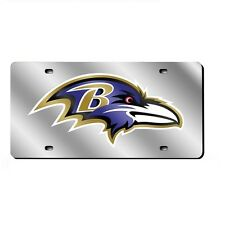 Baltimore Ravens Mirrored Laser Cut License Plate Laser Tag