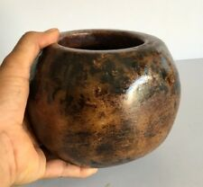 Ancient Old Rare Stone Marble Hand Carved Primitive Tribal Whisky Pot