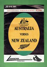 #Bb. 1985 Australia v New Zealand Rugby Union Program