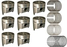 Chevy Chevrolet 283 SBC Silvolite Pistons (8) With Hastings Rings 1957 - 1967