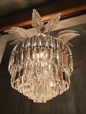 Vintage Palm Beach Style Lucite Mid Century Chandelier Hollywood Regency Glam
