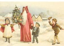 Antique Style Presents Post Card Saint Nicholas Santa Claus Father Christmas