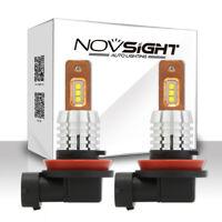 NOVSIGHT H11 H8 H9 Car LED Fog Light Driving Lamp Bulbs 6000K 60W 1800LM