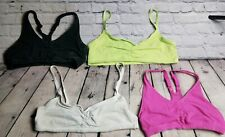 Lot 4 Small Women Variety Wire Free Square Racerback Workout Gym Sport Bras