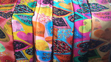 Joblot 24 pcs Psychedelic Heart lightweight scarf wholesale 190x90 cm Lot 18