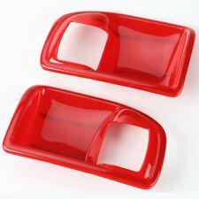 Red Car Inner Door Bowls Cover Trim Frame fits 2011-2018 Jeep Wrangler JK 2dr