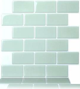 Tic Tac Tiles_3D Peel and Stick_Wall Tile_Subway Mist_30cm x 30cm x 10 sheets