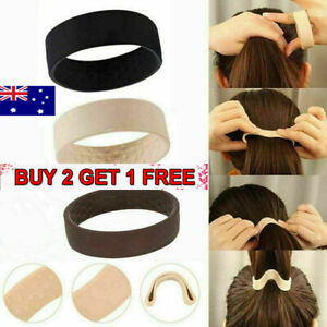 Foldable One Wide Pony Band Clip Wide Pony Hair Band O Hair Tie Band 3Colors AU