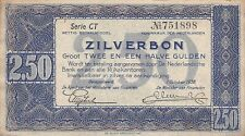 Banknote Niederlande (Netherlands) 2,50 Gulden 1938 Serie CT