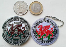 ~ ROT13 Decoder Welsh Dragon Spinner Geocoin &tag Unactivated Trackable