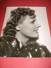 IRENE DUNNE IRVING LIPPMAN COLUMBIA STUDIOS VINTAGE PHOTO DATE STAMP 1936 (486)