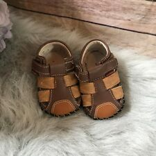 Pediped Harvey Soft Sole Brown Sandals 0-6 mo 2.5 3.5 17 18