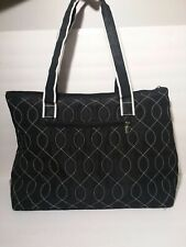 Belvah Quilted Tote Bag Black And White