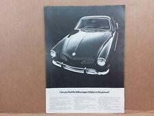 Vintage VW VOLKSWAGON KARMAN GHIA Playboy original 1970s Print CAR ADVERTISING